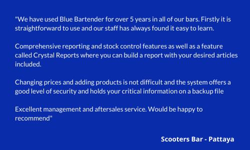 Blue Bar Tender Testimonial - Scooters Bar Pattaya